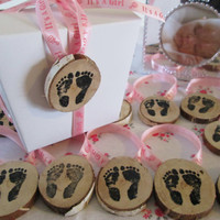 Baby Shower Favors, It's A Girl Favors, Foot Prints Favors, Pink Favors, Baby Girls Favors, Gift Tags