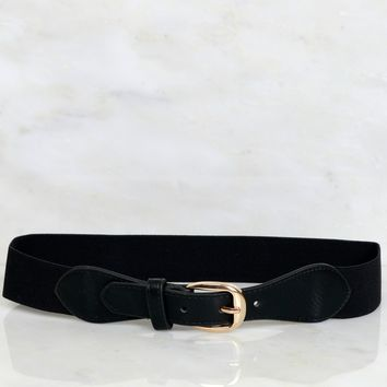 Hug Me Right Buckle Belt Black