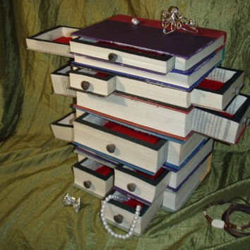 Harry Potter series Book Jewelry Box from WreckedWritings on Etsy