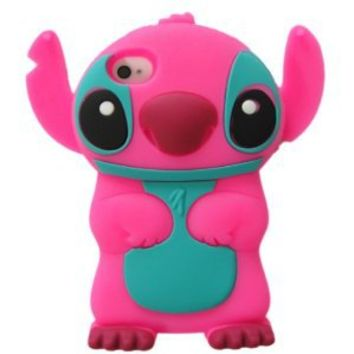 Peath Disney 3d Stitch Movable Ear Silicone Case Cover for Iphone 4 and 4s Xmas Gift
