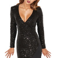 Gamila Sequin Bandage Dress