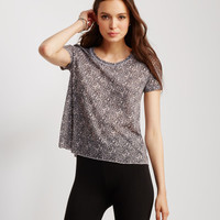 Sheer Twisted Vine Print Graphic T