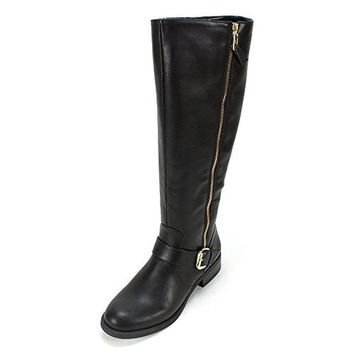 White Mountain Womens Lurch Faux Leather Knee-High Riding Boots