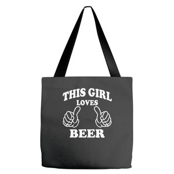 This Girl Loves Beer Tote Bags