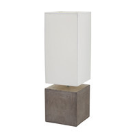 Cubix Square Desk Lamp In Natural Concrete