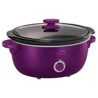 Bella Dots 6 Quart Slow Cooker - Purple