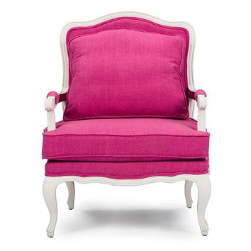 Baxton Studio Antoinette Classic Antiqued Pink Fabric French Accent Chair Set of 1