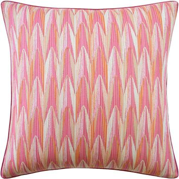 Verdant Pink & Orange Pillow
