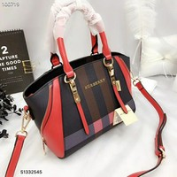 2018 Burberry Women Leather Tote Handbag Shoulder Bag Satchel