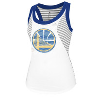 Golden State Warriors adidas Women's Racer Stripe Tank - White
