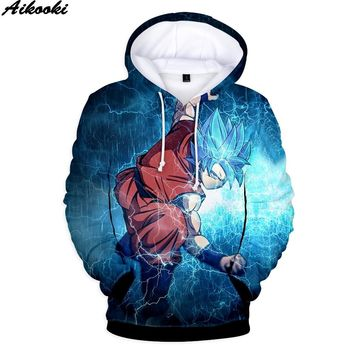 Aikooki Dragon Ball Hoodies Men Women Oversized Sweatshirt 3D Hooded Hip Hop Hot Anime 3D Dragon Ball Hoodies Boys/Girls Tops