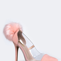 Pom Pom High Heel Pumps