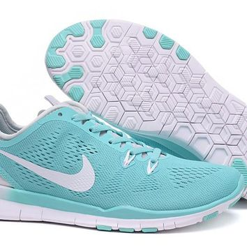 Women's Training Shoes: Nike Free TR FIT 5 Brthe Mint Green/White