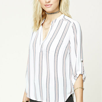 Contemporary Striped Woven Top