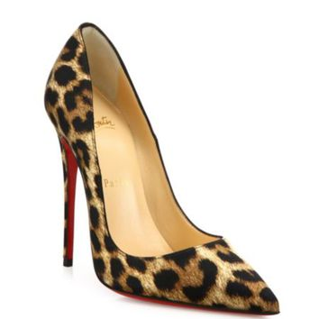 Christian Louboutin - Pigalle Follie Leopard-Print Patent Leather Pumps