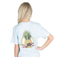 Southern Hospitality Pocket Tee in Light Blue by Lauren James