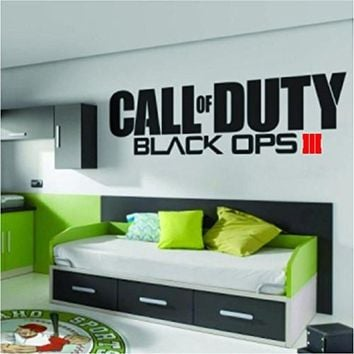 Call of Duty Black Ops 3 III Sticker Decal Wall Room Xbox One 360 Ps4 Ps3, Wii, Psp, Video Game