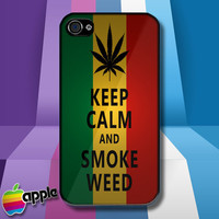 Rasta reaggae smoke weed iPhone 4 iPhone 4S Case Cover - 1990-Now