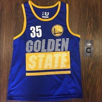 Golden State Warriors Youth Jersey Tank Top Kevin Durant Blue UNK NBA