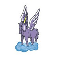 HEAVENLY UNICORN Temporary Tattoo 2x2