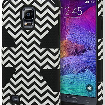 Samsung Galaxy Note 4.   Hybrid Black Silicone with Chevron Case