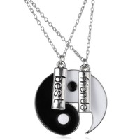 Vintage Friendship Yinyang Yin Yang Necklace twin pairs pendants for couple Best Friends Necklace personalized Valentine's Day
