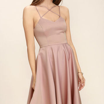 Neverending Story Blush Pink Midi Dress