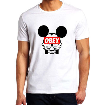 Mickey Mouse Obey Men T-Shirt