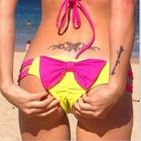 Sexy Womens Brazilian Bikini V Scrunch Butt Cheeky Thong Bottom Beach Swimwear = 1956967492