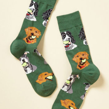Fetch You Later! Men's Socks | Mod Retro Vintage Mens SS Shirts | ModCloth.com
