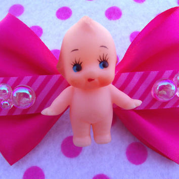 Cute Lolita Kewpie Doll Hair Bow Brooch