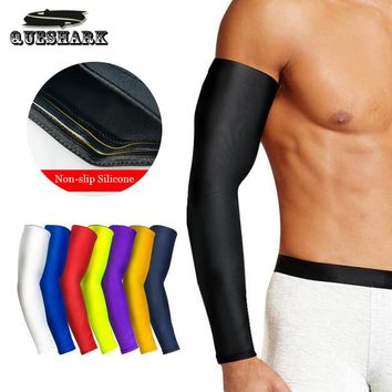 1Pcs Breathable Quick Dry UV Protection Running Basketball Arm Sleeves Sports Elbow Pad Fitness Armguards Cycling Arm Warmers