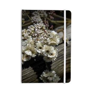 "Nick Nareshni ""Rustic Flowers"" Beige Brown Everything Notebook"