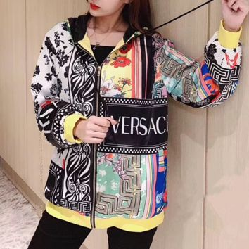 VERSACE Women Fashion Sweatshirt Jacket Coat Windbreaker Sportswear