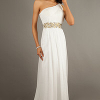 One Shoulder Floor Length Gown