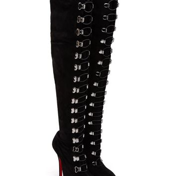 Veau Velore Over-the-Knee Suede Boots - CHRISTIAN LOUBOUTIN