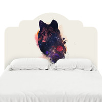 Universal Wolf Headboard Decal