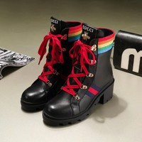 2018 Gucci most new autumn and winter Martin boots