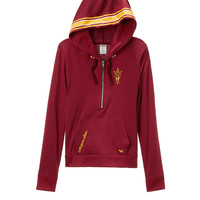 Arizona State University Bling Perfect Half Zip Hoodie - PINK - Victoria's Secret