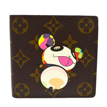 AUTHENTIC LOUIS VUITTON MONOGRAM PANDA TAKASHI MURAKAMI WALLET M61666 S07655