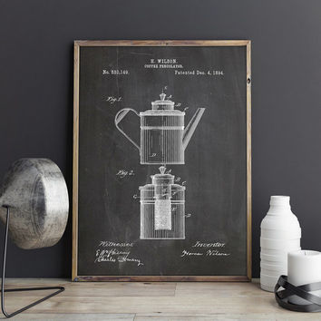 Coffee Poster, Percolator, Coffee Percolator, Coffeeshop Poster, Caffeine,Diner Wall Art,Coffee Lover Gift,Coffee Art Gift, INSTANT DOWNLOAD