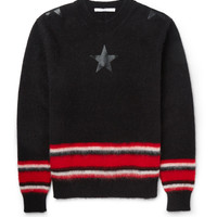 Givenchy - Striped Mohair-Blend Sweater | MR PORTER