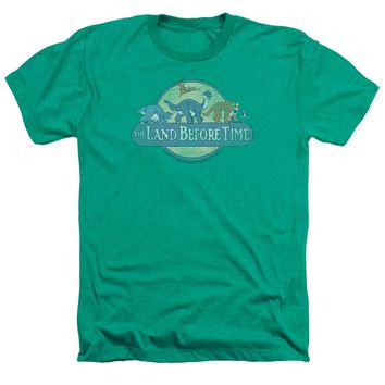 Land Before Time - Retro Logo Adult Heather
