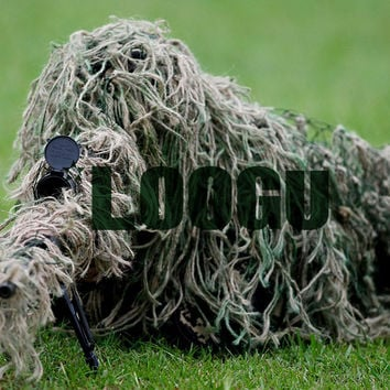 1.2m Elastic Synthetic Threads Ghillie Paintball Airsoft Rifle Cover Rifle Wrap Camoflauge Camo Wrap Hunting Accessories
