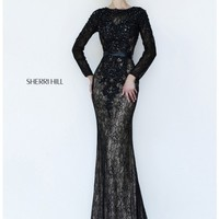 Sherri Hill 4340 Black/Nude Dress - Prom, Homecoming, Cocktail Party