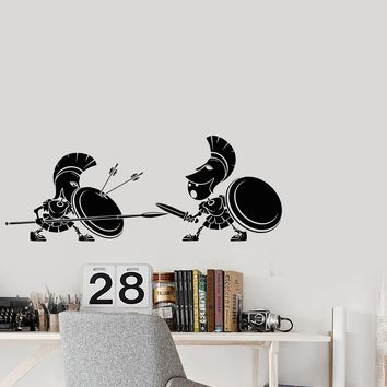 Vinyl Decal Wall Sticker Greek Rome Soldiers Ancient Battle Decor Unique Gift (g078)