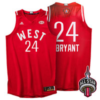 2016 Toronto NBA All-Star Western Conference Los Angeles Lakers Kobe Bryant #24 Red Jersey