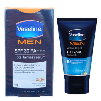 Vaseline Men Total Fairness Serum and Oil Expert Gel Wash Promo Pack