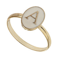 Enamel A Initial Ring - Jewelry - Accessories - Topshop USA