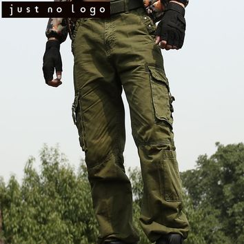 Men's Military Army Cargo Pants Casual Multi-Pocket Jogger Overall Tactical Paintball Work Slacks Combat Baggy Trousers